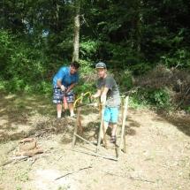 hout voor de steenoven